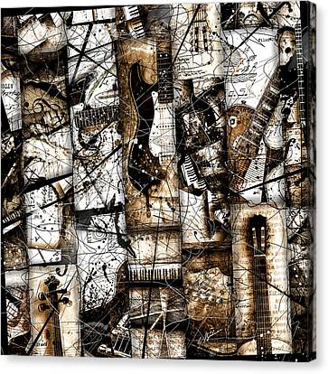Abstracta 37 Musicum Mosaic Canvas Print by Gary Bodnar