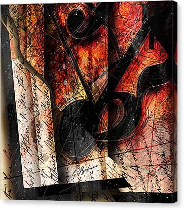 Abstracta_02 Symbolz II Canvas Print by Gary Bodnar