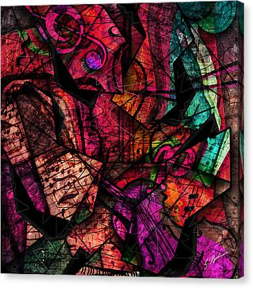 Abstracta_11 Cacophony In Z Minor Canvas Print by Gary Bodnar