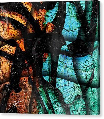 Abstracta_13 Patmos Canvas Print by Gary Bodnar