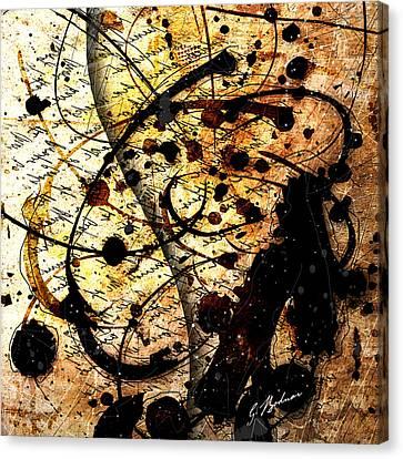 Abstracta_17 Antiqua Canvas Print by Gary Bodnar