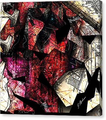 Fender Strat Canvas Print - Abstracta_21 Stratavari Moderna by Gary Bodnar