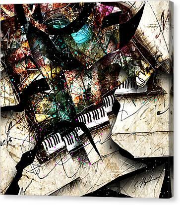 Piano Canvas Print - Abstracta_22 Concerto 3 by Gary Bodnar