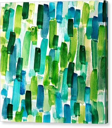 Abstractbrush Stroke In Watercolor Painitng Canvas Print by My Art