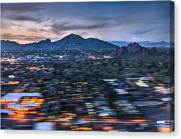 Arizonia Canvas Print - Abstracted Sunset Landing by Louise Hill