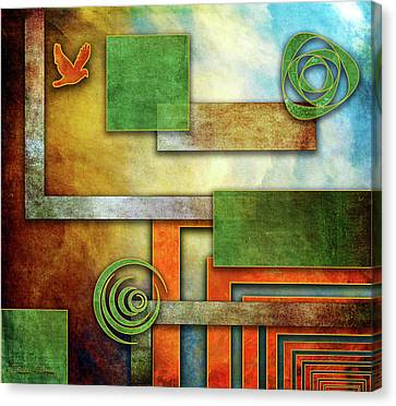 Canvas Print featuring the digital art Abstraction 2 by Chuck Staley