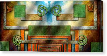 Canvas Print featuring the digital art Abstraction 2 Mirrored by Chuck Staley