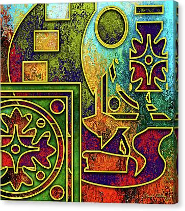 Canvas Print featuring the digital art Abstraction 3 by Chuck Staley