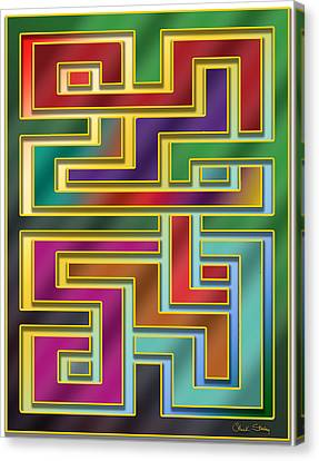 Canvas Print featuring the digital art Abstraction 4 by Chuck Staley