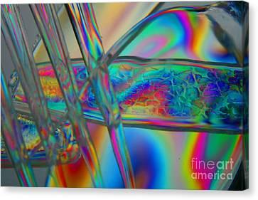 Abstraction In Color 2 Canvas Print by Crystal Nederman