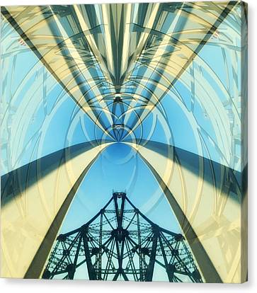 Abstraction Of Bridges Canvas Print