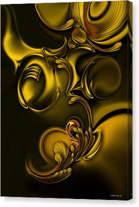Canvas Print featuring the digital art Abstraction With Meditation by Carmen Fine Art