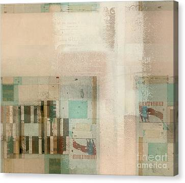 Canvas Print featuring the digital art Abstractitude - C01b by Variance Collections