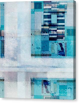 Canvas Print featuring the digital art Abstractitude - C02v by Variance Collections