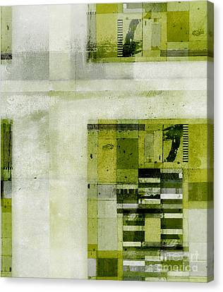 Canvas Print featuring the digital art Abstractitude - C4bv2 by Variance Collections