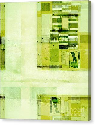 Canvas Print featuring the digital art Abstractitude - C4v by Variance Collections