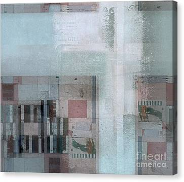Canvas Print featuring the digital art Abstractitude - C7 by Variance Collections