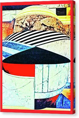 Abstracts On Red Canvas Print by Bruce Iorio