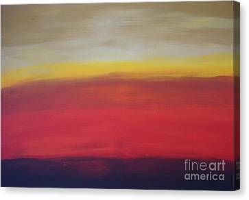 Abstract_sunset Canvas Print by Jimmy Clark