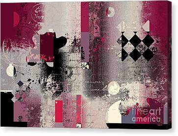 Abstracture - 21pp2a Canvas Print by Variance Collections