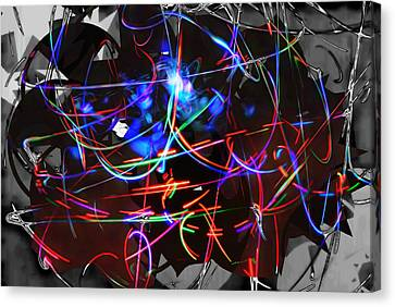 Abstracture Marvel Canvas Print by Marco De Mooy