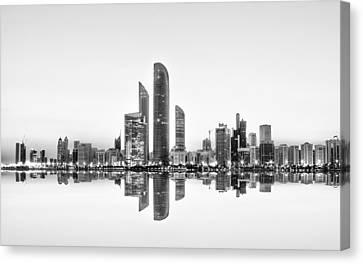 Abu Dhabi Urban Reflection Canvas Print by Akhter Hasan