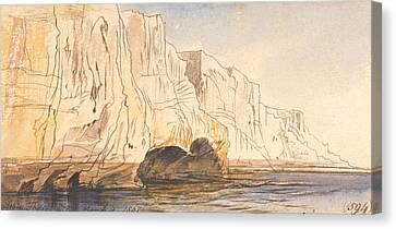 Abu Fodde, 4 Pm, 4 March 1867  Canvas Print by Edward Lear