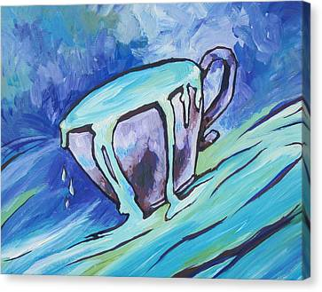 Abundance - My Cup Runneth Over Canvas Print