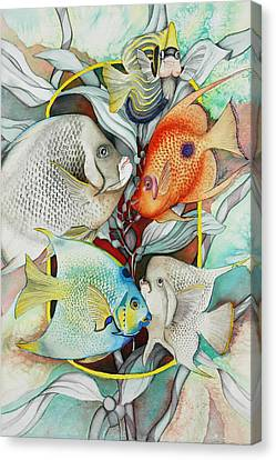 Abundant On The Reef Canvas Print by Liduine Bekman
