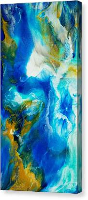 Canvas Print featuring the painting Abyss  by Christie Minalga