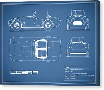 Ac Cobra Blueprint Canvas Print by Mark Rogan