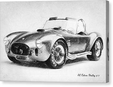 Ac Cobra Shelby 427  Canvas Print by Taylan Apukovska