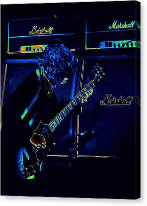 Ac Dc Electrifies The Blues Canvas Print by Ben Upham