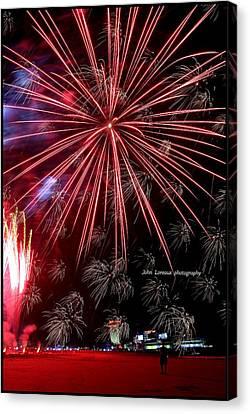 Ac Fireworks Canvas Print