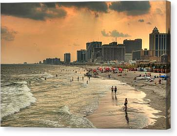 Ac Shore Canvas Print by John Loreaux