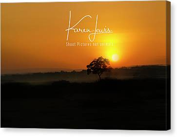 Canvas Print featuring the photograph Acacia Tree Sunrise by Karen Lewis