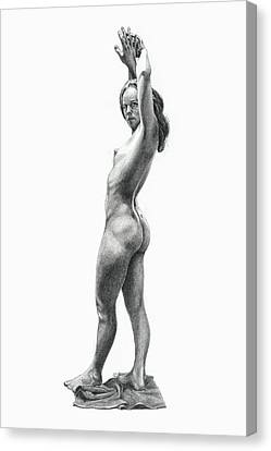 Academic Pose By Sally Canvas Print