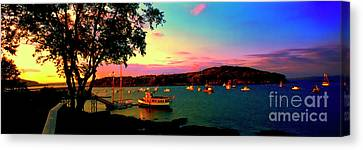Canvas Print featuring the photograph  Acadia Bar Harbor Sunset Cruises by Tom Jelen