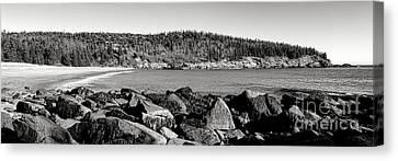 Ocean Inlet Canvas Print - Acadia National Park Sand Beach by Olivier Le Queinec