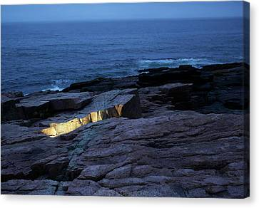 Acadia Nocturnes Canvas Print by Jerry LoFaro