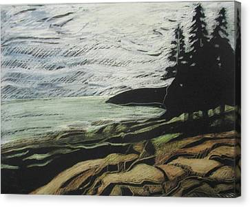 Acadia - Ocean Path View Canvas Print by Grace Keown