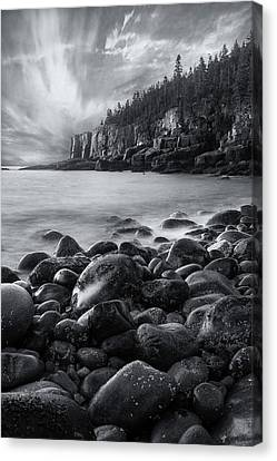 Acadia Radiance - Black And White Canvas Print by Thomas Schoeller