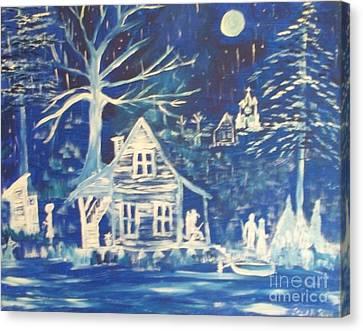 Acadian Blue Willow Canvas Print by Seaux-N-Seau Soileau