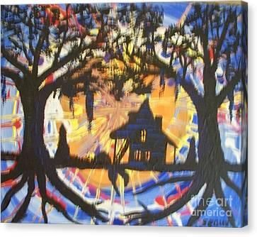 Acadian Homestead Canvas Print by Seaux-N-Seau Soileau