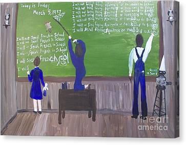 Acadiana Schoolroom In 1927 Canvas Print by Seaux-N-Seau Soileau