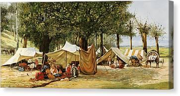 Accampamento Canvas Print by Guido Borelli