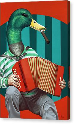 Creepy Canvas Print - Accordion To This by Kelly Jade King