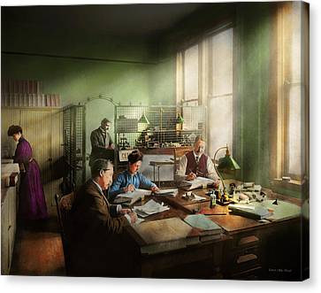 Canvas Print featuring the photograph Accountant - The- Bookkeeping Dept 1902 by Mike Savad