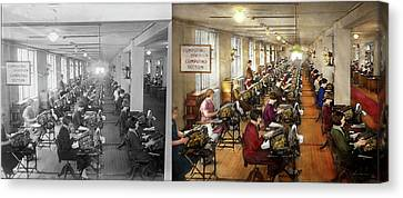 Accountant - The Enumeration Division 1924 - Side By Side Canvas Print by Mike Savad