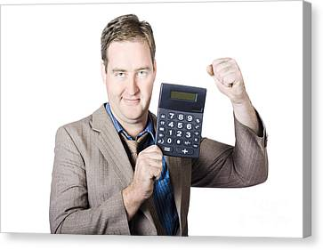 Accountant Working With A Calculator Canvas Print by Jorgo Photography - Wall Art Gallery